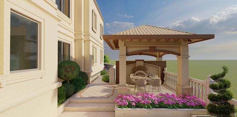 紫泉枫丹别墅花园设计